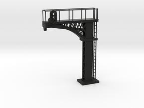 Cantilever Block Signal - HO 87:1 Scale in Black Natural Versatile Plastic