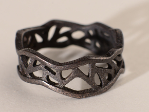 Web Ring_Size7 in Stainless Steel