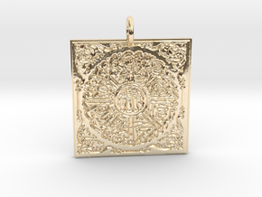 Abesque in 14k Gold Plated Brass