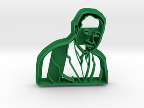 Dr Charles Drew Cookie Cutter in Green Processed Versatile Plastic
