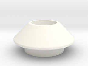 DS Emitter Base in White Strong & Flexible Polished