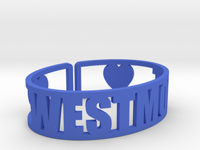 Westmont Cuff in Blue Strong & Flexible Polished