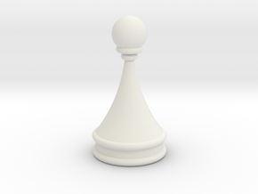 Courier chess pawn in White Natural Versatile Plastic