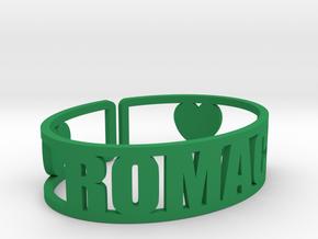 Romaca Cuff in Green Processed Versatile Plastic