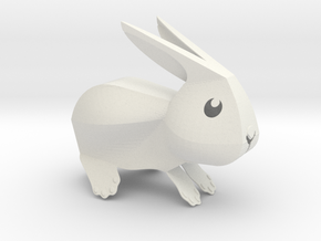 Little Bunny - V2 in White Natural Versatile Plastic