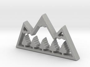 Mountain Treetops Pendant in Aluminum