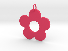 Groovy Flower Pendant in Pink Strong & Flexible Polished