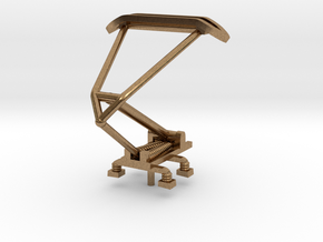 Single Arm Pantograph for Light Rail Vehicles in Raw Brass