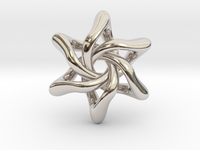 Exia Pendant - 35mm in Rhodium Plated Brass