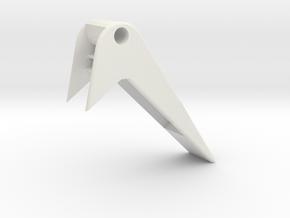 Catchball Trigger in White Natural Versatile Plastic