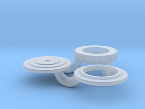 1/43 Small 8 In Round Air Cleaner in Smoothest Fine Detail Plastic