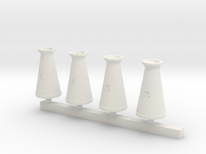 Concial Milk Churn 7mm scale O gauge in White Natural Versatile Plastic