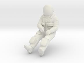 NASA Space Shuttle Pilot in White Natural Versatile Plastic: 1:72