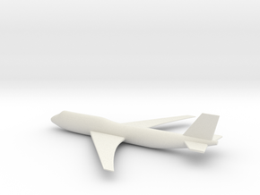 747 Model in White Natural Versatile Plastic