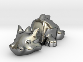 Smartphone Stand Dragon in Polished Silver