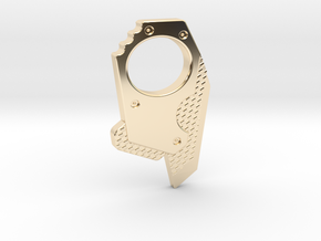 M-Gear Custom made with flat side in 14K Yellow Gold