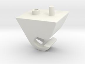 vauxhall/opel visor clip in White Natural Versatile Plastic