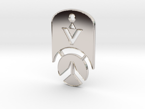 Overwatch Dog Tag *beveled edges* (Necklace) in Platinum