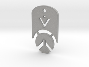 Overwatch Dog Tag *beveled edges* (Necklace) in Aluminum
