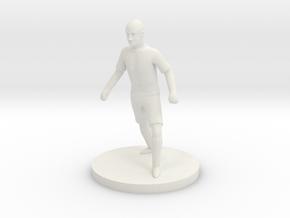 Italian Football Player in White Natural Versatile Plastic