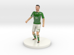 Irish Football Player in Glossy Full Color Sandstone