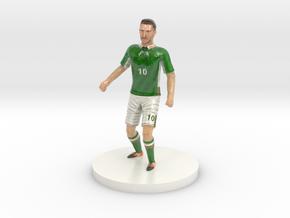 Irish Football Player in Glossy Full Color Sandstone