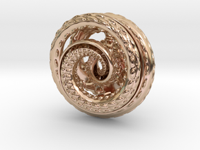 Nautilus pocket sculpture in 14k Rose Gold Plated Brass