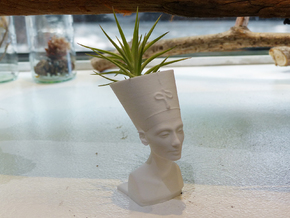 Nefertiti Mini Planter in White Natural Versatile Plastic
