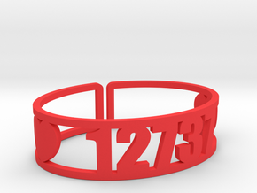 Lokanda Zip Cuff in Red Processed Versatile Plastic