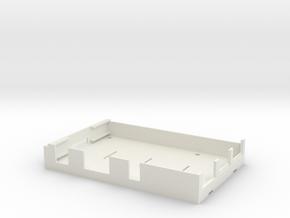 Raspberry Pi 3 - Protecting Bottom Plate in White Natural Versatile Plastic