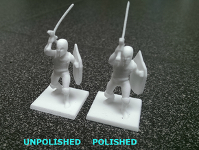 Pathfinder / D&D Knight / Paladin miniature in White Processed Versatile Plastic