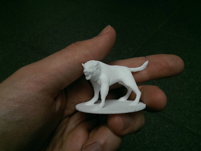Pathfinder / D&D large werewolf in White Natural Versatile Plastic