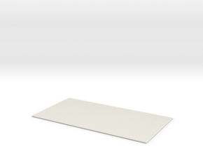 Spanish Clay Tile Roof N 1:160 Small in White Natural Versatile Plastic
