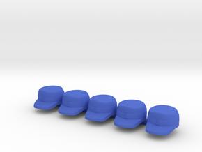 5 x Alpine Infantry Cap in Blue Processed Versatile Plastic