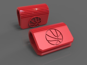 Webcam Cover Basketball Edition - Laptop Privacy in Red Processed Versatile Plastic
