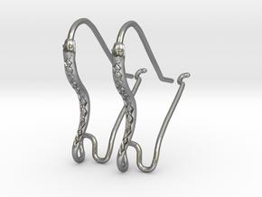 Earring Hooks 1, Snake in Natural Silver