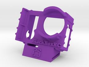 ExoPro GoPro 3 & 4 WEDGE Case (25deg) in Purple Processed Versatile Plastic