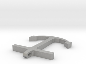 Anchor Half Scale 2-Circle in Aluminum