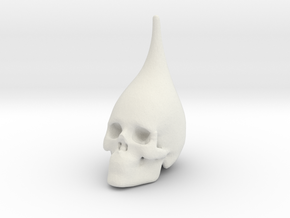 Skull pawn in the game in White Natural Versatile Plastic
