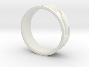 Mosaic Ring in White Natural Versatile Plastic