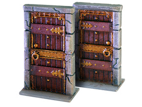 "HeroQuest  ""Kellar´s Keep"" Door - open version in White Strong & Flexible Polished"