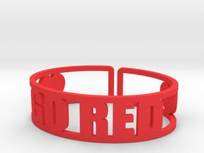 Go Red in Red Processed Versatile Plastic