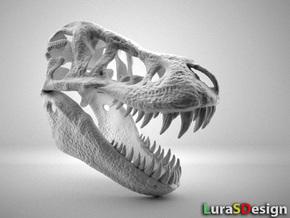 Tyrannosaurus Dinosaur Skull - T-Rex in White Strong & Flexible