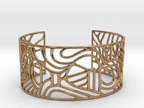 Cuff abstract no. 12 in Polished Brass