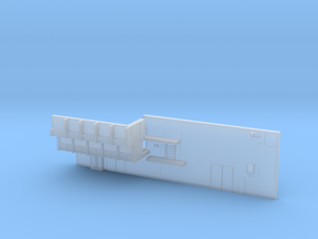 1:350 Scale Nimitz Class Hangar Back Wall in Smooth Fine Detail Plastic
