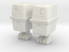 Gonk droids 1:32 scale in White Natural Versatile Plastic