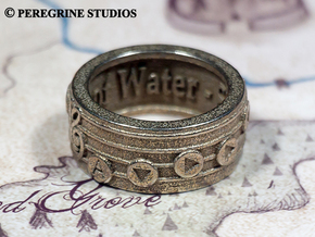 Ring - Serenade of Water in Polished Bronzed Silver Steel: 13 / 69