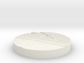 40mm Base Grate O in White Strong & Flexible