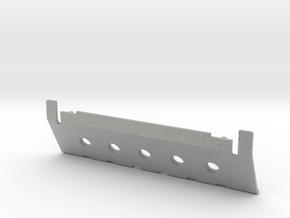 Skid plate front Adventure D90 D110 Gelande 1:10 in Metallic Plastic