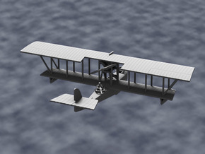Donnet-Denhaut D.D.8 Flying Boat (Three-Seater) in White Strong & Flexible: 1:144